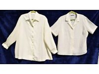 "Smart Cream Silky Suit Jacket C57"" & Ridged Cream Shirt C50"""