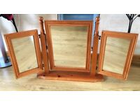 Pine Dressing table 3 way Mirror - NEW