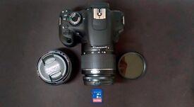 canon eos 1200D bundle w/ (18-55mm, 50mm lenses) 58mm ND filter, Tripod