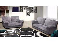 3&2 Seater Sofa in Black & Grey New