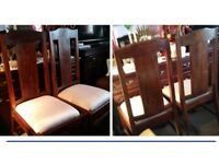 10.00. Each SOLID WOOD CHAIRS / FOR SALE 8 CHAIRS