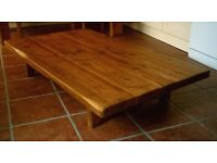 Large Hand Made Low Rustic Coffee Table