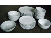 White Tesco brand Tableware - Plates and Bowls