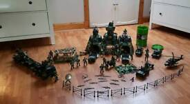 Large bundle of Army toys