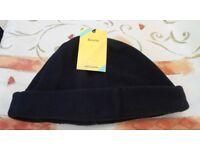 John Lewis Fleece Beanie Hat. Black. Size Standard