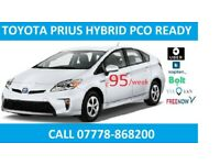 PCO UBER READY | TOYOTA PRIUS HYBRID | FOR RENT | HIRE MINI CAB | AUTO| TAXI |