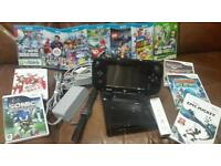 WiiU Bundle. 32GB with 12 games(inc.Rare SuperLuigi green game). Rarely used & in great condition