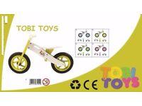 TOBI TOYS KIDs WOODEN BALANCE BIKE/ running bike / first bike etc