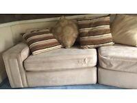Cream suede sofas