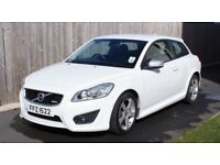 Volvo C30 R-Design 2010, 2.0l diesel in white, manual, 77700 miles, excellent opportunity