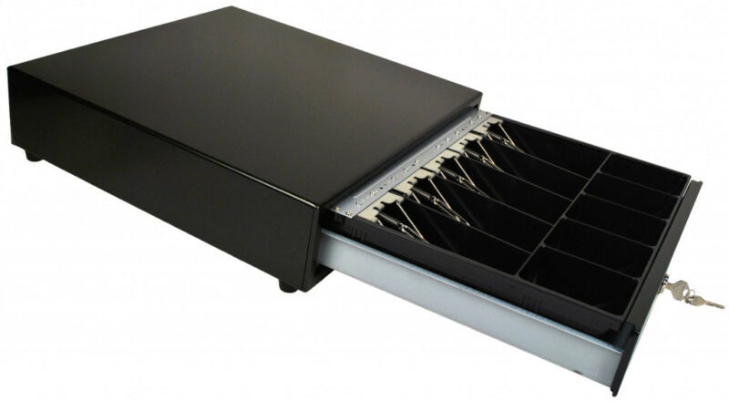"Square Compatible Cash Drawer  All Black  ""NEW"""