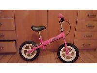 Girls balance bike, excellent condition