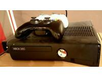 Xbox 360 console with wireless controllers & games