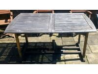 Hardwood Extendable Garden Table - Extends from 1.5m to 2m