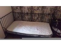 Single day bed and wardrobe from ikea. No matress