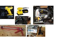 Various DIY Tool: Jigsaw, sanders, drill