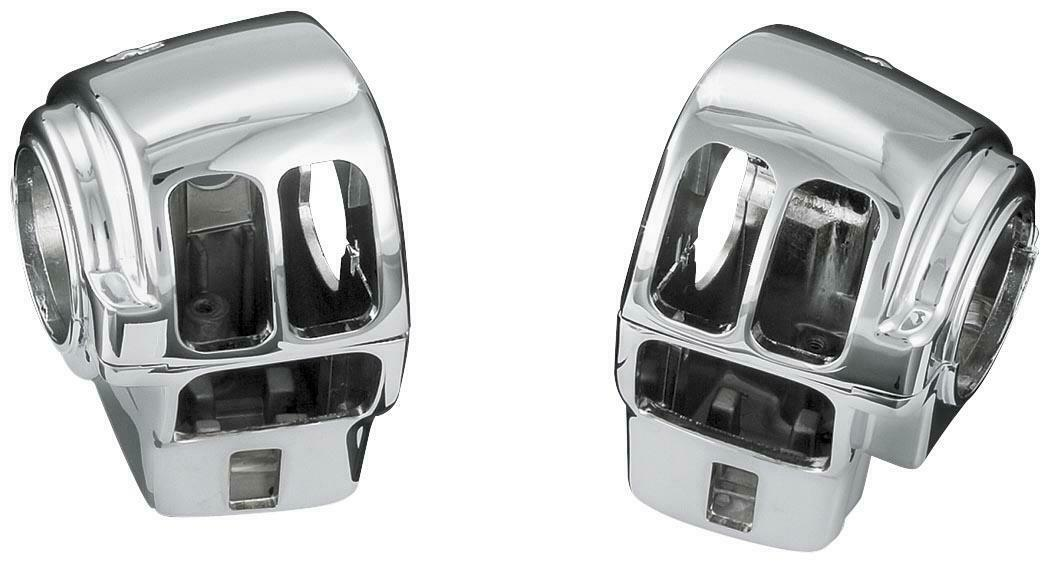 Kuryakyn Chrome Housing Switch Cover 02-13 Harley Davidson FLHTC FLHT 1742