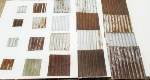 (#12) 20 pcs RECLAIMED CORRUGATED METAL TIN ROOFING PANELS