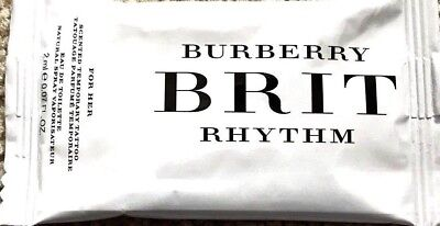 Burberry Brit Rhythm For Her Perfume EDT 2ml/0.07 oz Scented Temporary Tattoo