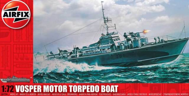 Airfix Royal Navy Vosper 73ft M.T.B. Motor Torpedo Boat Modell-Bausatz 1:72 kit