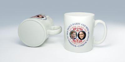 Prince Harry Y Meghan Markle Boda Real Conmemorativa Taza de Cerámica