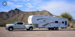 5th wheel and trailer moving / towing