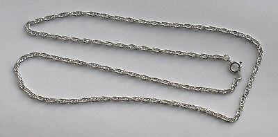"""10x24"""" white tin plated complete rope necklace chains ideal for heavier pendants"""
