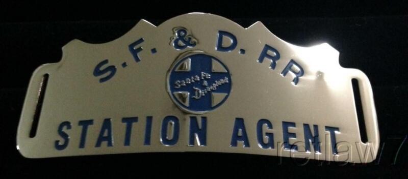 ~SANTA FE & DISNEYLAND RAILROAD~REPRO.STATION AGENT HAT BADGES!~FINALLY HERE!