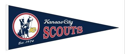Kansas City Scouts NHL Embroidered Wool Blend Pennant New With Tag (Nhl Wool Blend)