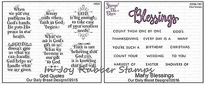 Our Daily Bread Designs Many Blessings Clear Stamp Set   Die Duos