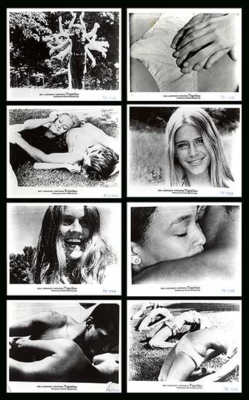 TOGETHER original 1971 publicity lobby still photos MARILYN CHAMBERS