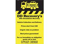 DD Recovery's 24HR breakdown recovery, vehicle collection and delivery