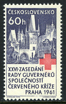 Czechoslovakia 1069, MNH. Red Cross. Charles Bridge, St.Nicholas Church, 1961