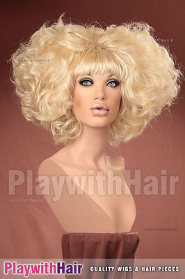 OUTRAGEOUS!! Huge Beehived Costume Wig Platinum - Outrageous Wigs