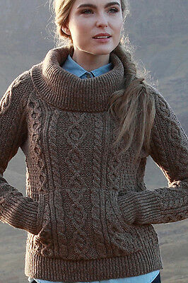 Sweater Traa Youthful Hip Cowl Neck Pockets Cellphone Girly Kari Sweatshirt