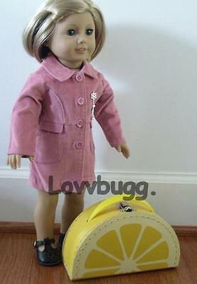 "Lovvbugg Cute Lemon Trunk Suitcase for 18"" American Girl Doll Accessory"