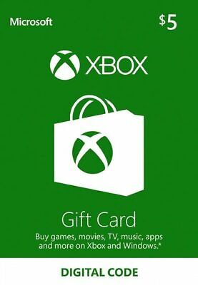 Xbox Live 💲5 USD USA Gift Card Points For Xbox 360 / Xbox One 🚀Fast🚚