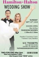 2 for 1 Admission after 2pm to Hamilton Fall Wedding Show
