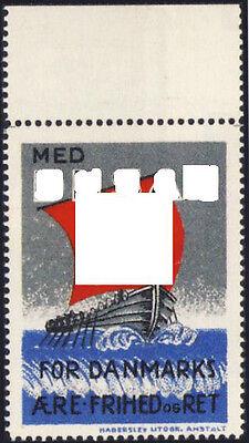 Dänemark Vignette MED. D. N.S.A.P. Legion Wikingerschiff (*) REPLICA Fälschung