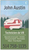 Réparation Roulotte - VR - Véhicule récréatif