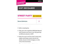 HOGMANAY 2016/17 NYE STREET PARTY TICKETS £10