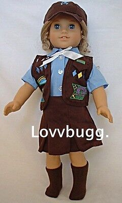 "Lovvbugg Brownie Uniform Skirt Set for 18"" American Girl Doll Clothes"