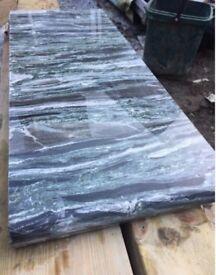 GRANITE SLAB OFFCUT 270 X 700mm green/black/white 30mm THICK (WORKTOP)
