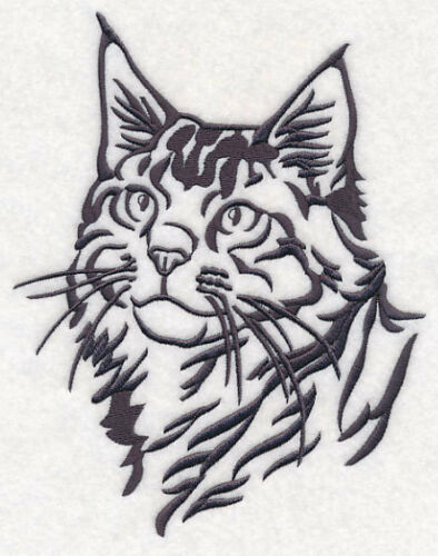Maine Coon Cat Personalized Embroidered Gray Fleece Stadium Blanket Gift