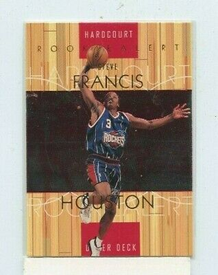 STEVE FRANCIS 1999-00 Upper Deck Hardcourt Rookie Alert #71 Houston -