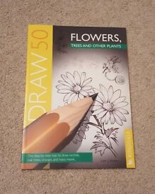 DRAW 50 FLOWERS - NEW - KINGFISHER/LEE J AMES PAPERBACK