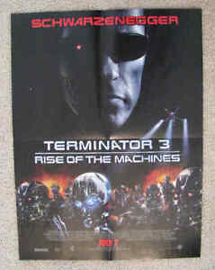 "Movie Poster: 2003 Terminator 3 Rise of the Machines, 15"" X 21"""