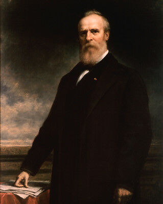 19th US President RUTHERFORD HAYES Glossy 8x10 Photo Political Print 1884 Poster