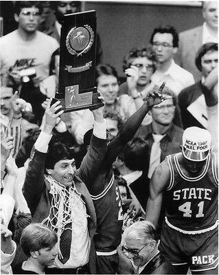 - JIM VALVANO NC STATE 1983 NATIONAL CHAMPIONS BASKETBALL 11x14 PHOTO