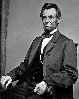16Th Us President Abraham Lincoln Vintage 8X10 Photo 1864 Historical Print